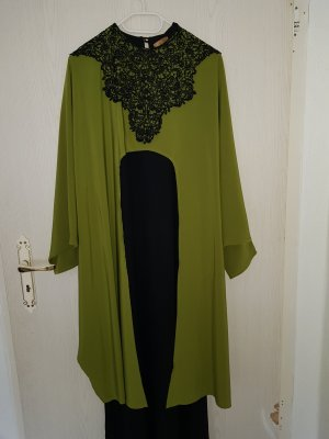Shirtwaist dress black-grass green