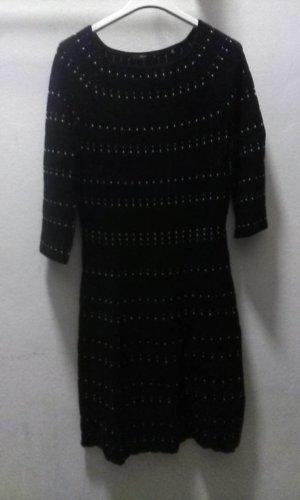 Zero Woolen Dress white-black