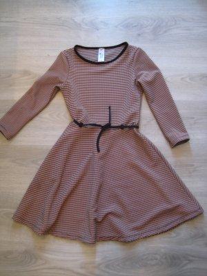 Langarm Kleid Rose schwarz GR.XXS/30