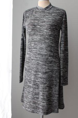 Langarm Kleid Skaterkleid A Linie Frühling Gr. 38 S M neu grau schwarz weiß