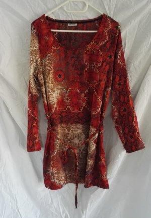 Langarm Mini Kleid von Street One in Rot/Orangetöne Gr.42