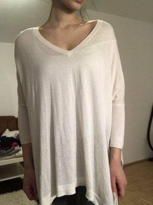 H&M Maglione con scollo a V bianco-bianco sporco