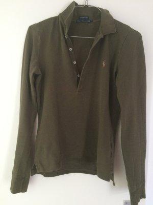 Langarm Poloshirt Polo Ralph Lauren, olivgrün, Gr. M