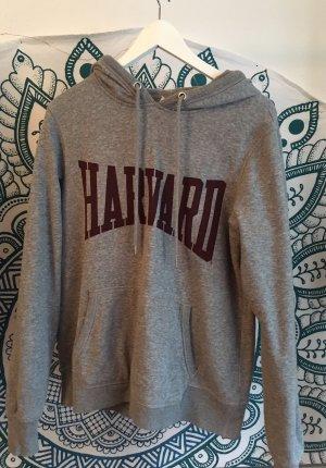 H&M L.O.G.G. Hooded Sweater dark grey-dark red