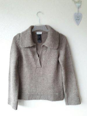 Langarm Pullover beige--braun