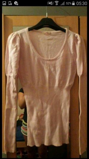 Langarm Pullover figurbetont Rose nude