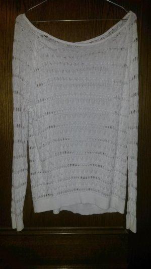 langarm pullover mit lochmuster