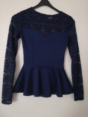Langarm Pullover  mit Spitze