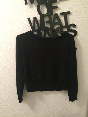 Langarm Pullover schwarz