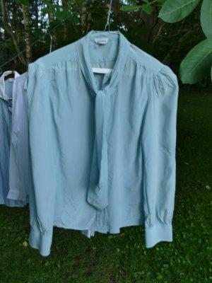 Silk Blouse light blue silk