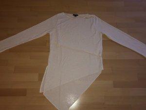 Langarm Shirt crèmefarben in Größe M