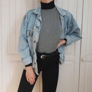 Langarm Shirt Grau Grey T-Shirt Longshirt Oberteil Top Zara Bluse Hemd