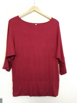 Langarm-shirt in bordeaux-rot