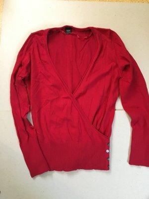 langarm Shirt in dunkel Rot