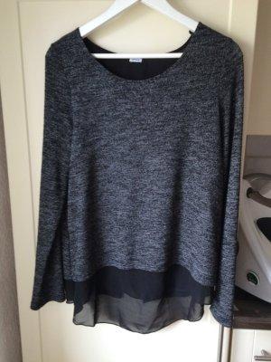 langarm Shirt in grau schwarz von Pimkie