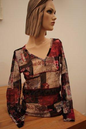 Langarm Shirt mit 20er-Jahre Print in schönen Farben