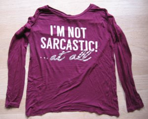 Bershka Shirt karmijn