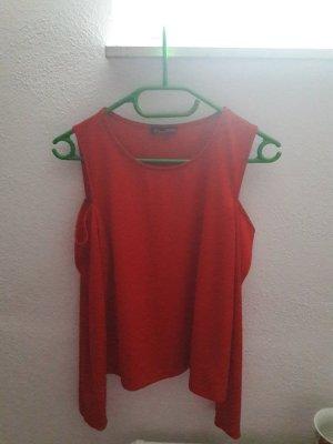 Zara Camisa larga rojo