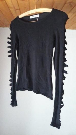 Langarm Shirt mit cut-outs an den Ärmeln