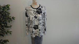 Camiseta estampada blanco-negro Algodón