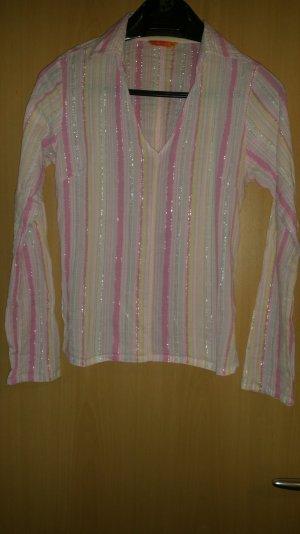 Langarm Shirt mit Glitzerfädchen Größe M