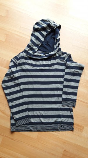 Cecil Hooded Shirt grey-dark blue