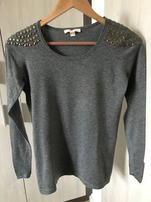 Langarm-Shirt mit Nieten von Esprit