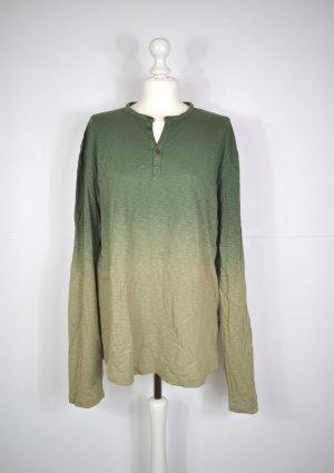 Langarm Shirt mit Ombré Verlauf in Grün
