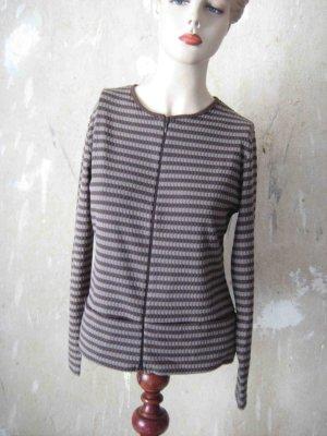 Rayure Paris Gestreept shirt donkerbruin-grijs-bruin