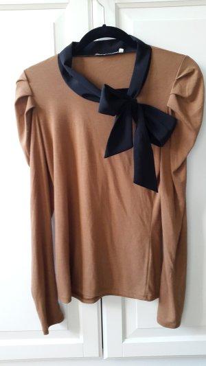 3 Suisses Camisa negro-marrón claro