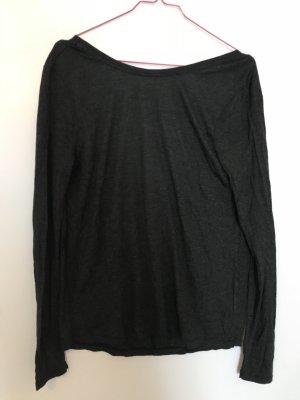 Langarm Shirt mit tiefem Rücken