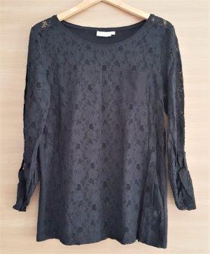 Langarm Shirt Spitze Schwarz Gr. L #407