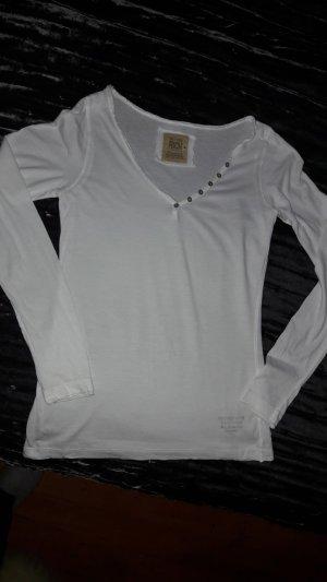 Langarm Shirt V neck