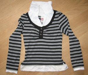 Langarm-Shirt von C&A, schwarz-grau-weiß, Gr.146