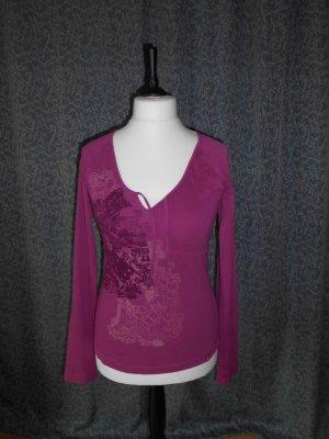 edc by Esprit T-shirt col en V multicolore coton