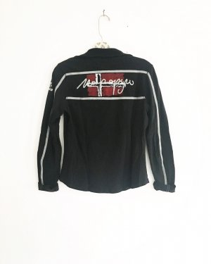 langarm shirt von napapijri / schwarz / casual / polo / longsleeve