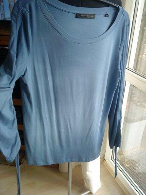 Steffen Schraut Long Shirt cornflower blue-steel blue viscose