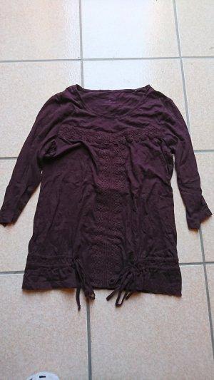 Tom Tailor Camicia a tunica marrone scuro