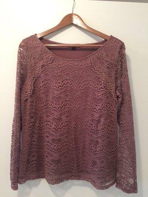 Comma Gehaakt shirt roze-stoffig roze