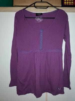 Ribbed Shirt dark violet
