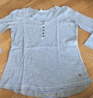 Camicia lunga bianco-blu fiordaliso