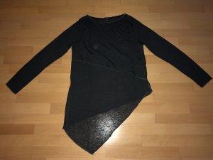 Langarm T–Shirt Amisu grau anthrazit in Größe M