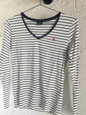 Langarm T- Shirt mit V Ausschnitt