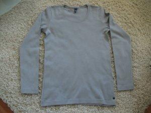 Langarm T-Shirt von CECIL, Gr. S, grau, Baumwolle