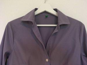 Benetton Camicetta a maniche lunghe viola-grigio Tessuto misto