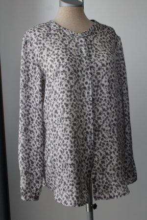 Langarmbluse Bluse Langarm Marc Aurel Gr. 36 S weiß grau