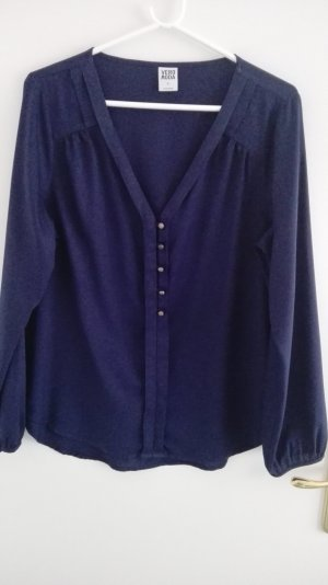 Vero Moda Blouse met lange mouwen donkerblauw Polyester