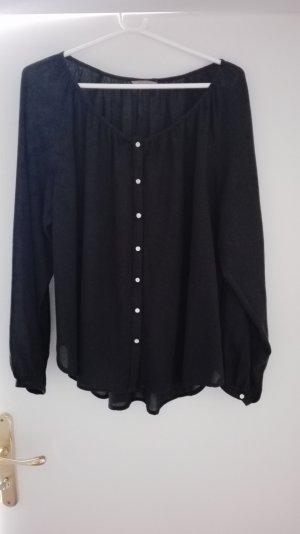 H&M Blouse met lange mouwen zwart Katoen