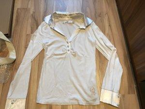 Langarmbluse Shirt von Mogul Größe S 36 weiß mit Kragen Oberteil