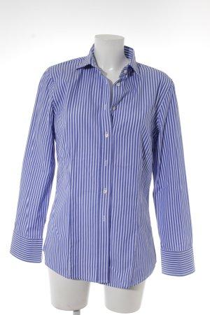 Langarmhemd blau-weiß Streifenmuster Business-Look